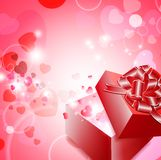Gift with hearts Stock Images
