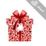 Gift and hearts Royalty Free Stock Photos