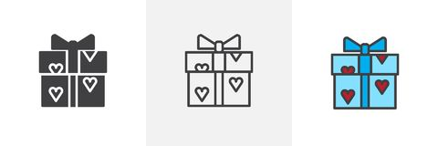 Love gift different style icons vector illustration