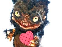 Gift, herinnering, poppen dierlijk teddy monster Royalty-vrije Stock Foto's