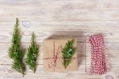 Gift het verpakken pakkengiften, geleidelijke hoogste mening Royalty-vrije Stock Foto