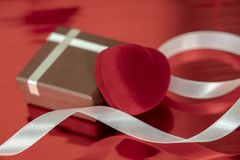 a gift of lovers for Valentine's day beautiful hearts background royalty free stock photo