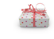 Gift for the holiday of New year, Christmas, Easter, birthday Royalty Free Stock Photography