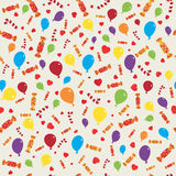 Gift holiday seamless pattern. Vector illustration Stock Photos