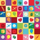 Gift holiday symbol pattern. Vector seamless Stock Photos