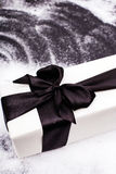 Gift on the ice Royalty Free Stock Image