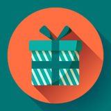 Gift Icon flat Vector Stock Image