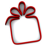 Gift icon frame, 3d Royalty Free Stock Photos