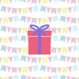 Gift icon patterns seamless Stock Image