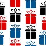 Gift icon seamless pattern Stock Photo