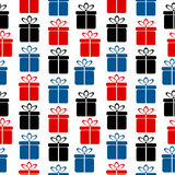 Gift icon seamless pattern. On white background Royalty Free Stock Photography