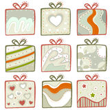 Gift icon set Royalty Free Stock Image