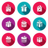 Gift icon set Stock Photos