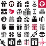 Gift icon set. Gift box. Gift icon set. Gift box icons Stock Images