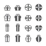 Gift icon set. /16 vector for design Vector Illustration