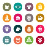 Gift icon set. Vector Illustration Royalty Free Stock Photo