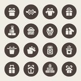 Gift icon set Royalty Free Stock Photos