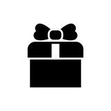 Gift icon simple flat style vector illustration. Gift box icon simple flat style vector illustration Vector Illustration