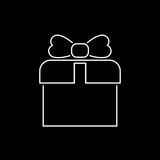 Gift icon simple flat style vector illustration. Gift box icon simple flat style vector illustration Royalty Free Illustration