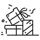 Gift icon vector. Illustration photo royalty free illustration