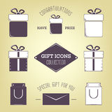 Gift icons collection. Stock Photography