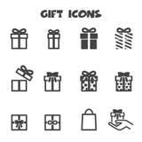 Gift icons. Mono vector symbols royalty free illustration