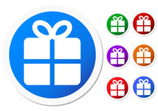 Gift icons Royalty Free Stock Photo
