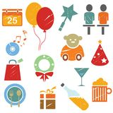 Gift icons Stock Images