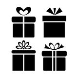 Gift icons Royalty Free Stock Image