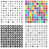 100 gift icons set vector variant. 100 gift icons set vector in 4 variant for any web design isolated on white Royalty Free Illustration