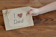 Gift idea for dad from daughter. Stock Photo