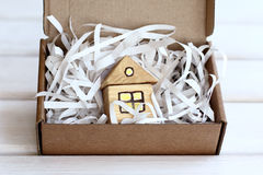 Gift idea with the symbol of the house Stock Photography