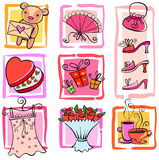 Gift Ideas. For girl. Vector illustration Royalty Free Stock Image