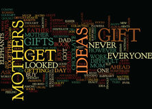 Gift Ideas For Mothers Word Cloud Concept Stock Photos