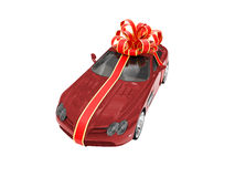 Gift isolated red car Stock Photo