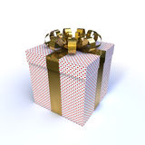 Gift isolated on white Royalty Free Stock Photo