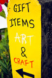 Gift items, art and craft bright  conspicuous yellow handmade si Royalty Free Stock Photography