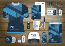 Gift Items business corporate identity, Vector abstract Color promotional souvenirs design with origami elements for diagonal line. S. link digital technology Royalty Free Stock Images