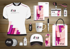 Gift Items business corporate identity, Vector abstract Color promotional souvenirs design with origami elements for diagonal line. Gift Items With business Stock Images