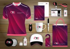 Gift Items business corporate identity, Vector abstract Color promotional souvenirs design with origami elements for diagonal line. S. link digital technology Stock Images
