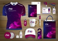 Free Gift Items Business Corporate Identity, Vector Abstract Color Promotional Souvenirs Design With Origami Elements For Diagonal Line Royalty Free Stock Photography - 119489837
