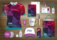 Free Gift Items Business Corporate Identity, Vector Abstract Color Promotional Souvenirs Design With Origami Elements For Diagonal Line Stock Photos - 119490073