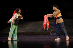 With a gift- Jiangxi opera a steelyard Stock Images