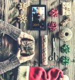 Gift, Kerstmis, vakantie, viering, nieuw jaar, huidig, doos, Stock Foto