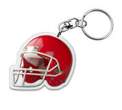 Gift keyholder with american football helmet symbo Royalty Free Stock Images