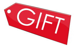 Gift label. For your Gift Box or Items Royalty Free Stock Image