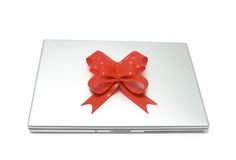 Gift laptop Stock Photography
