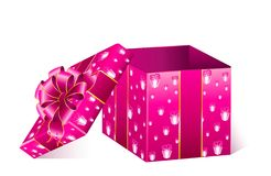 Gift with a large bow Stock Photos