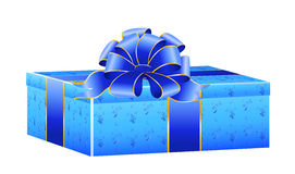 Gift with a large bow Royalty Free Stock Image