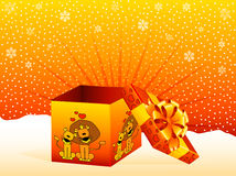 Gift with a large bow Royalty Free Stock Images